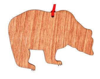 Wooden Bear Ornament