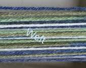 Scarf weaving loom kit-Green, blue and white yarn-Rigid heddle loom- Floor loom-Table loom-weaving