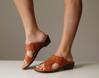 NOS, 1980s Aztec Woven Sandals~Size 7-1/2 (7.5)