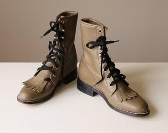 1980s Diamond J Roper Boots >>> Kid's Size 2-1/2