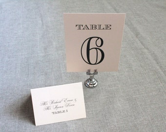 Blush Pink Art Deco Wedding Table Numbers - Laura and Jared