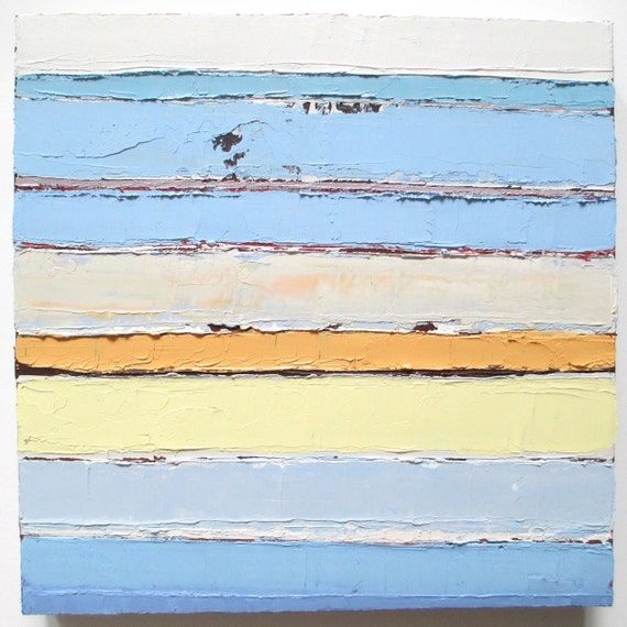 Drawing Lines With Oil Paint : Abstract oil painting horizontal lines beach