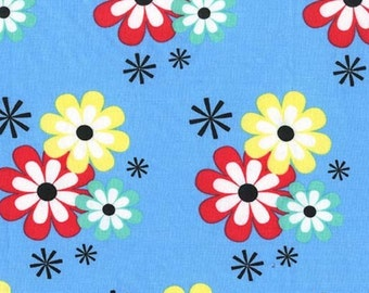 QUILTING FABRIC: Flower Frolic in Wave for Michael Miller - 1 Yard