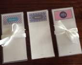 Personalized Monogrammed Note Sheets, stationery, Preppy Gift, stationary