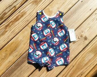 Boys Jon Jons - Thomas The Train - Shortall - Boys Birthday Outfit - Boys Bodysuits - Overalls - Thomas The Train Birthday - Groovy Gurlz
