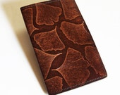 Leather Weekly Planner With 2016 Calendar - Ginkgo Leaf Design - IMMEDIATE SHIPPING