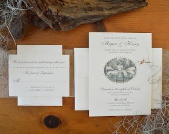 Forsyth Fountain Iconic Savannah Wedding Invitations