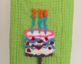 Happy Birthday Cake Kitchen Towel!