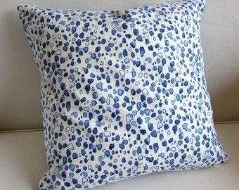 CALICO WEDGEWOOD decorative Pillow cover blue 18x18 20x20 22x22 24x24 26x26 12x20 13x26