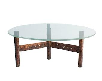 Brutalist Coffee Table in the manner of Paul Evans