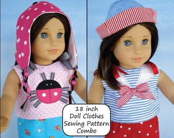 18 inch Doll Clothing COMBO PDF Sewing Patterns