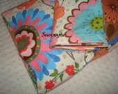 ON SALE Designer Flannel Baby blanket and 12 in X 16 in Pillowcase - Approximately 42 in X 41 in Ready To Ship