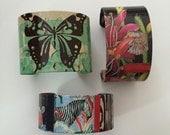 Custom Order for Quinn zebra cuff hummingbird cuff butterfly cuff