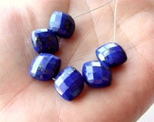 Blue Lapis Lazuli Oval Bead, Lapis Lazuli Faceted Oval Bead, Lapis Lazuli Side Drilled Oval, 12mm, (6), #2, 0% off use code SAVE10