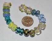 Destash - Assorted Lampwork Glass Bead Pairs (10)