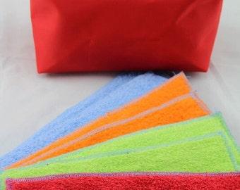 Cloth Pad Value Pack.  5 pad sets plus free wet bag.