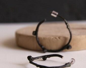 Nature inspired hoop earring-Silver hoop earrings-Branch hoops-Twig jewelry--Simple everyday earrings-Gift for her