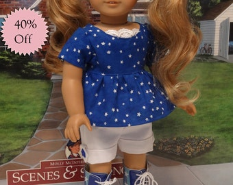 Patriotic Cutie - shorts and tunic for American Girl **Sale**