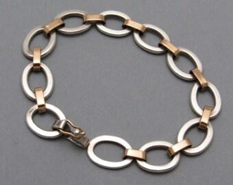 Sterling Gold Filled Oval Link Bracelet Jewelry B7222