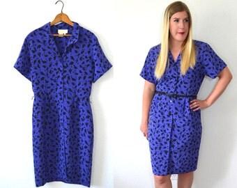 20 DOLLAR SUPER SALE! Purple Floral Dress - Purple Dress Women - Floral Midi Dress