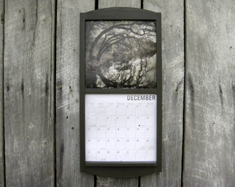 12 x 24 calendar wood frame holder in barn by sugarshackshoppe. Black Bedroom Furniture Sets. Home Design Ideas