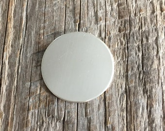 4 Pack 1/2 inch 22 Gauge Sterling Silver Round Circle Discs Jewelry Stamping Supplies
