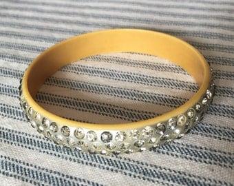 Darling vintage 1930's celluloid rhineatone bracelet