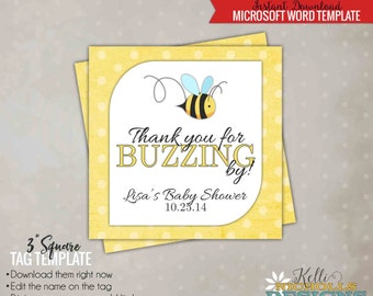 Printable Bumble Bee Baby Shower Favor Tags, Mommy to Bee Decorations, What will it Bee Party Favor - Instant Download #S104