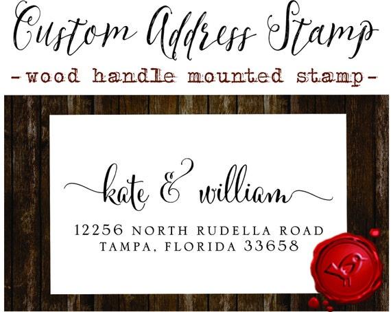 Return Address Stamp Custom Calligraphy Personalized Address