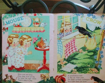 1948 Pets pictue book Louise Rowe Whitman vintage Childrens book goregous prints