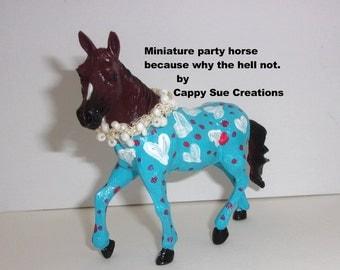 Miniature art doll horse pajama party slumber horse