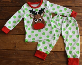 Christmas Pajamas, Kids Christmas Pajamas, Monogram Shirt, Polka Dot Pajamas, Family Pajamas, Personalized Pajamas, Family Photos