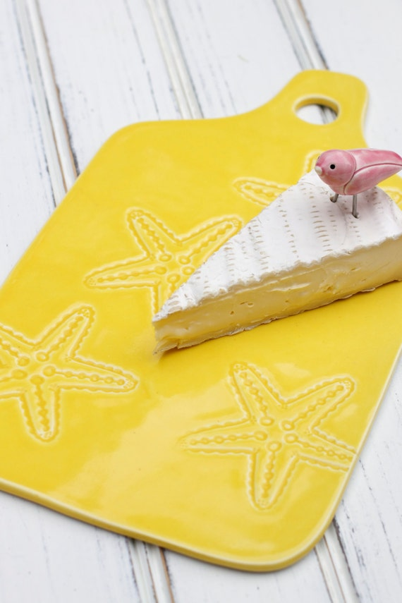 Porcelain Cheese board, starfish cheese tray