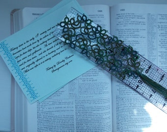 Tatting  Shuttle Tatted Bookmarker