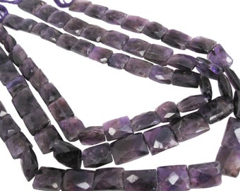 Amethyst Beads, Faceted Pillow Cut, February Birthstone, SKU 4191A