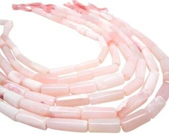 Pink Opal Beads, Pink Peruvian Opal, Peruvian Pink Opal, Pink Opal, Cylinder Shape, SKU 4172A