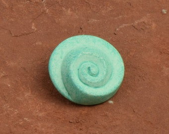 Button Mint Patina finish, 24mm, sold 3 each 9532