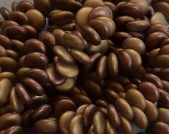 6mm Lentils Top Drilled Bronze Matte (Strand of 50)