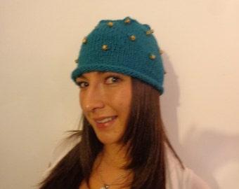 baby llama handknit hat