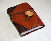 Medium Rustic Patchwork Leather Journal with Recycled Paper