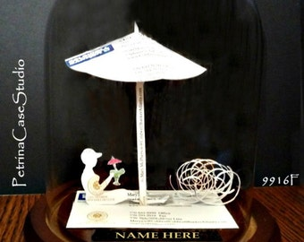 Vacation Retirement Business Card Sculpture Female or male  -Design 9916 Any Theme, Hobby, Sport or Profession
