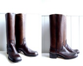 1970s Never Worn FRYE boots // Espresso Brown Campus Boots // Black Label // Size 6.5