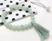 LITTLE gurus amazonite crystal mala bracelet for kids