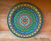 Circle of Love Pysanka Designs Wooden Plate