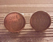 Wheat Penny Coin Cuff Links