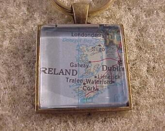 Atlas Map Key Chain / Ireland Key Chain / Map Keychain