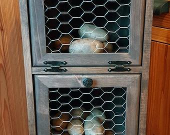 Potato Storage Bin - Chicken Wire - Flat Top