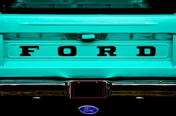 Ford Pickup Truck Car Photography, Automotive, Auto Dealer, Classic, Muscle, Sports Car, Mechanic, Boys Room, Garage, Dealership Art