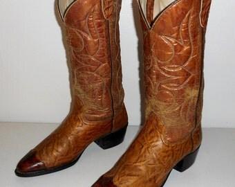 Mens Texas Cowboy Boots Size 9 D Distressed Vintage Western Urban Indie Folk Shoes