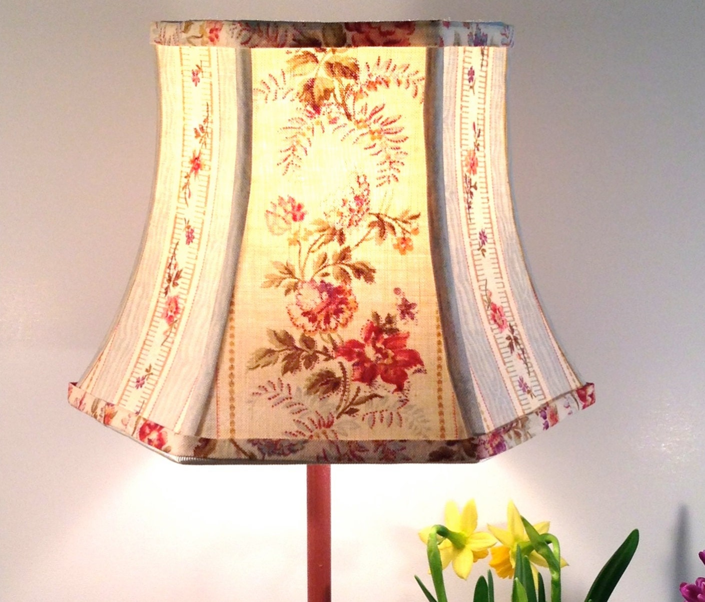 Cleveland Vintage Lighting Clip On Lampshade: Floral Lamp Shade French Lampshade Vintage Fabric 5x8x6 Clip